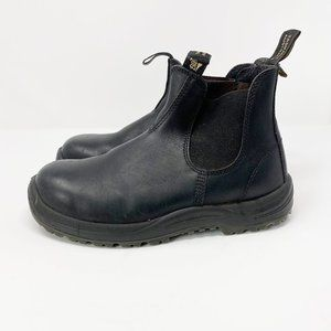 Blundstone Black Leather Steel Toe Safety Boots 8
